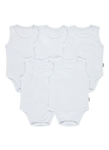 Civil Baby 5'li Çıtçıtlı Badi Beyaz